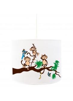 Deckenlampe Affenbande auf Ast mit Schmetterlingen D25