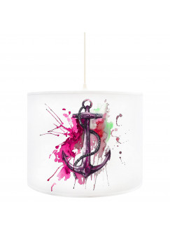 Deckenlampe Anker Ankerplatz maritim in pink D54