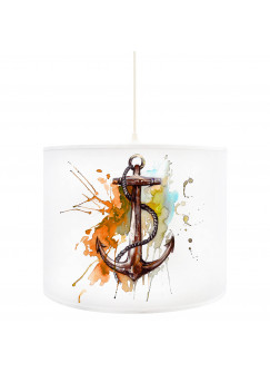 Deckenlampe Anker Ankerplatz maritim in orange braun D56