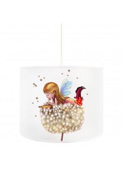 Deckenlampe Fee Lampe Deckenleuchte Elfe Fee auf Pusteblume mit Sterne D75