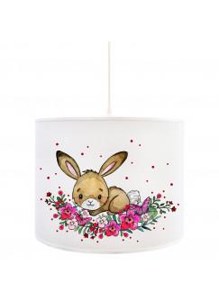 Deckenlampe Hase Kinderlampe Deckenleuchte Häschen & Punkte Lampe Leuchte Hängelampe D88