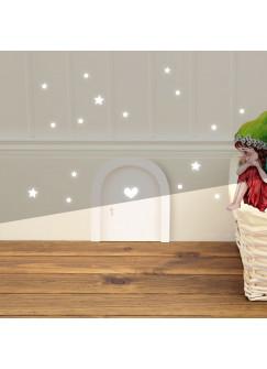 Elfentür Wichteltür einzeln aus Holz in den Farben rosa, lila, türkisblau, weiß oder naturfarben erhältlich e20