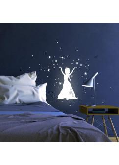 Eiskönigin Prinzessin Frozen Sterne Punkte fluoreszierend M1649