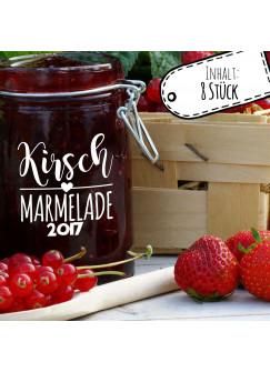 Aufkleber für Marmelade Etikett Marmeladenglas Kirsch Konfitüre ek02