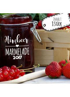 Aufkleber für Marmelade Etikett Marmeladenglas Himbeer Konfitüre ek03