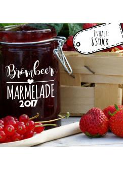 Aufkleber für Marmelade Etikett Marmeladenglas Brombeer Konfitüre ek04