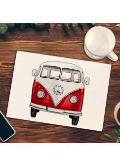 Frühstücksbrettchen Frühstücksbrett Schneidebrett Küchenbrettchen mit Bulli Surf Bus Van fb012