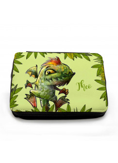 Gefüllte Federtasche Dino Drache im Dschungel mit Wunschnamen fm070