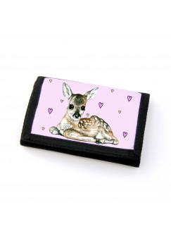 Portemonnaie Geldbörse Brieftasche Rehkitz mit Herzen gf21