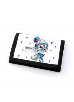 Portemonnaie Geldbörse Brieftasche Robbe mit Herzen gf26