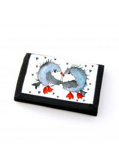 Portemonnaie Geldbörse Brieftasche Vögel Vögelchen verliebt gf32