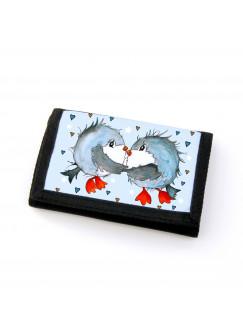 Portemonnaie Geldbörse Brieftasche Vögel Vögelchen verliebt gf33