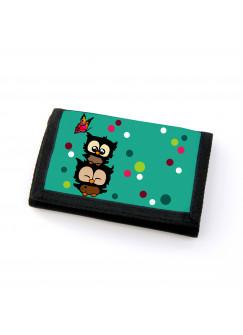 Portemonnaie Geldbörse Brieftasche Eulen Eulchen mit Schmetterling gf35