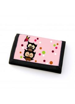 Portemonnaie Geldbörse Brieftasche Eulen Eulchen mit Schmetterling gf37