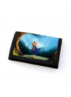 Portemonnaie Geldbörse Brieftasche Märchen Sternenhimmel Mädchen im Wald gf46