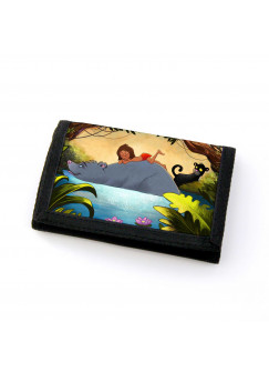 Portemonnaie Geldbörse Dschungeltiere Dschungel mit wildem Jungen Bär und Panther gf49