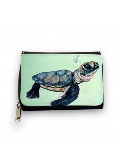 Geldbörse Meeresschildkröte Schildkröte mit Wasserblasen Bubbles gk088