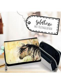 Geldbörse Pferd Portemonnaie Portmonee Wildpferd Indianer gk111