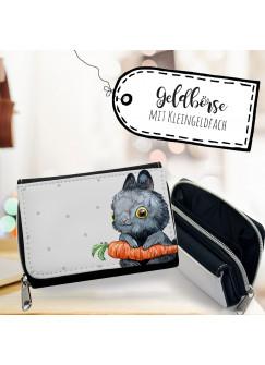 Geldbörse Hase Portemonnaie Portmonee mit Häschen und Karotte gk113