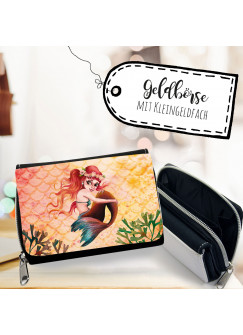 Geldbörse Portemonnaie Portmonee kleine Meerjungfrau Geldbeutel für Kinder Brieftasche gk136