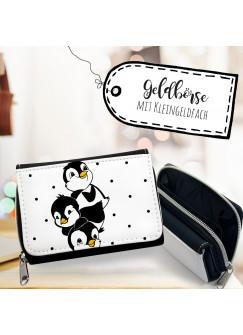 Geldbörse Portemonnaie Portmonee Pinguine mit Punkten gk092