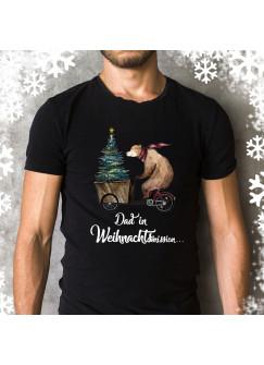 """Herren T-Shirt Weihnachten Weihnachtsshirt Dad Papa mit Spruch Zitat Dad in Weihnachtsmission"""" hs1"""""""