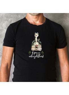 Herren T-Shirt mit Schildkröte & Spruch Opa ist unbezahlbar Shirt schwarz in 4 Größen hs11