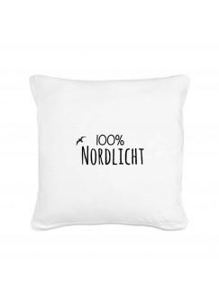 Kissen 100% Nordlicht mit Möwe inklusive Füllung k11
