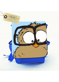 Kinderrucksack Eule Pepe mit Wunschnamen kgn016