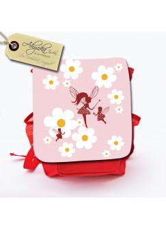 Kinderrucksack Feen Elfen mit Gänseblümchen und Wunschnamen kgn020