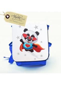 Kinderrucksack Superpanda mit Sternen und Wunschnamen kgn023