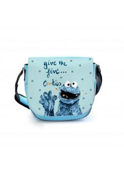 Kindergartentasche Kindertasche Tasche Cookiemonster mit Spruch und Punkten kgt12