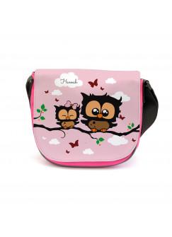 Kindergartentasche Kindertasche Tasche Eulen Eulchen auf Zweig mit Wunschnamen kgt15
