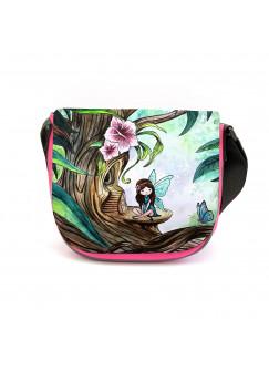Kindergartentasche Elfe Fee im Wald Kindertasche Tasche mit Wunschname kgt27