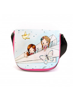 Kindergartentasche Elfen Feen in Papierflieger Kindertasche Tasche mit Wunschname kgt30