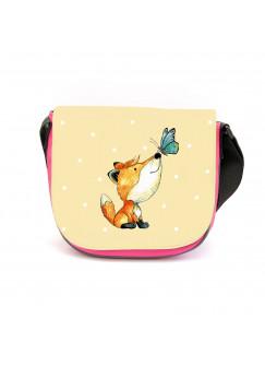 Kindergartentasche Fuchs und Schmetterling Kindertasche mit Wunschname kgt33