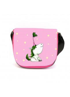 Kindergartentasche Einhorn und Schmetterling Kindertasche mit Wunschname kgt35