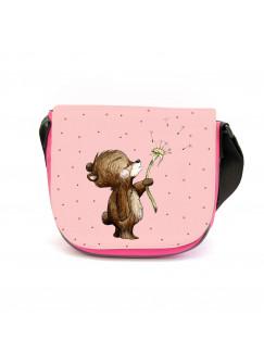 Kindergartentasche Bär Bärchen mit Pusteblume rosa Kindertasche Wunschname kgt47