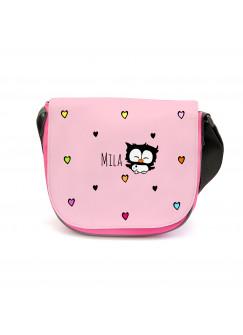 Kindergartentasche Kindertasche Tasche Eule mit Herzen und Wunschnamen kgt05