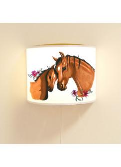 Wandlampe Schlummer-Lampe Lese-Schlummerlicht Pferde Pferd mit Fohlen Ls27