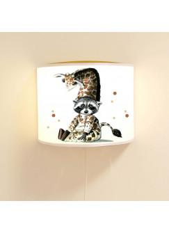Wandlampe Schlummer-Lampe Lese-Schlummerlicht Waschbär im Giraffenkostüm Ls40