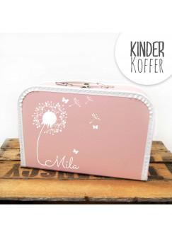 Kinderkoffer Koffer Pusteblume mit Schmetterlingen rosa kos5c