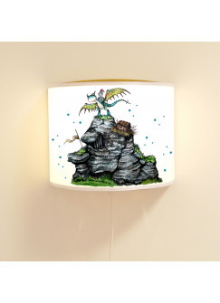 Leseschlummerlampe Jungen Schlummerlampe Wandlampe Lampe mit Ritter & Drache ls80