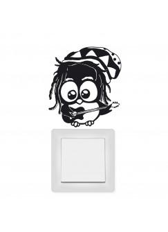 Wandtattoo Lichtschaltertattoo Bob Marley Eule M1668