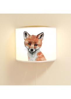 Wandlampe Kinderlampe mit kleinen süßen schlauen Fuchs Lampe Motivlampe Leselampe Kinderzimmer ls103