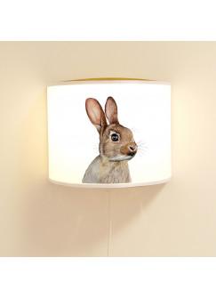 Wandlampe Kinderlampe mit niedlichen Hasen Häschen Lampe Motivlampe Leselampe Kinderzimmer ls104