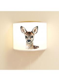 Wandlampe Kinderlampe mit süßen Reh Lampe Motivlampe Leselampe Kinderzimmer ls105