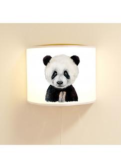 Wandlampe Kinderlampe mit süßen Pandabär Panda Bär Lampe Motivlampe Leselampe Kinderzimmer ls106