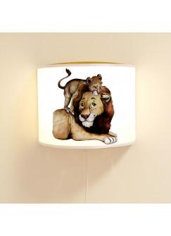 Wandlampe Kinderlampe mit süßen Löwe & Jungtier Lampe Motivlampe Leselampe Kinderzimmer ls114
