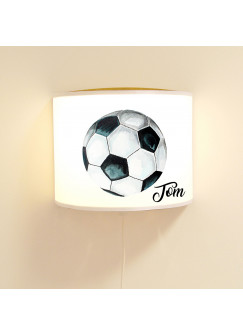 Wandlampe Kinderlampe mit coolen Fußball Soccer Lampe Motivlampe Leselampe Kinderzimmer mit Name Wunschname ls118